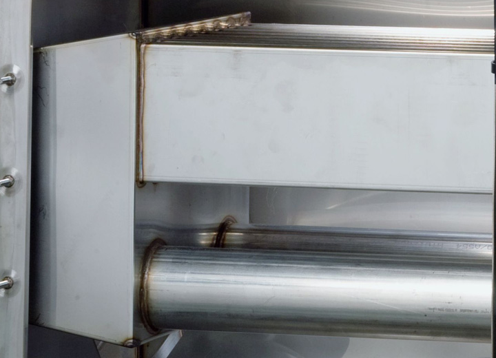 Steam humidifier flat heat exchanger